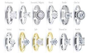 different types of wedding rings what are the different types of engagement rings raymond for