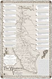 Map Of Western Canada by Map Of Western Cattle Trail In Texas Annotated