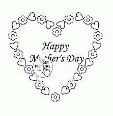 cute heart for mother u0027s day coloring page for kids coloring pages
