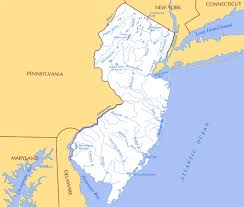 Map Of New York State by Large Rivers And Lakes Map Of New Jersey State New Jersey State