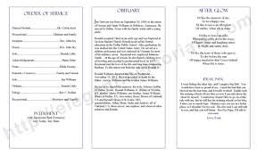 Templates For Funeral Program Trifold Funeral Program Sample Funeral Program Example