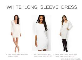 long sleeve white dress inspired by jessica alba