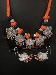 antique necklace silver images Antique silver jewelry at rs 650 set antique jewellery prachin jpg