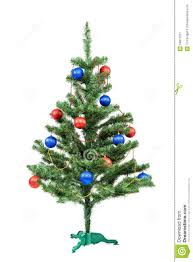 White Christmas Tree With Blue Decorations Christmas Tree Decorated Red And Blue Balls Stock Photo Image