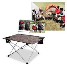 Light Weight Folding Table High Quality Aluminum Slim Lightweight Portable Camping Beach