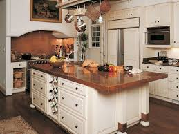 copper backsplash ideas home bar rustic with wine wood cabinets wall art panel refrigerator pot racks kitchen