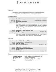 Resume Latex Template Download Resume For College Student With No Experience