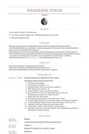 Basketball Coach Resume Example by Physical Education Teacher Resume Samples Visualcv Resume