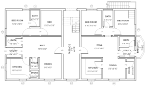 3 bhk single floor house plan single floor house plans architecture