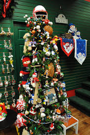 sports themed tree use helmet for tree topper and large