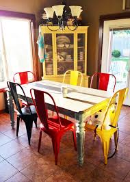 Colorful Kitchen Table by New World Market Metal Dining Chairs Averie Lane New World