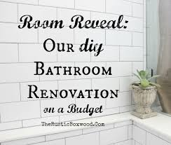 our diy farmhouse styled bathroom makeover