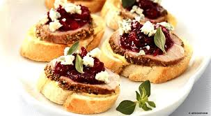 canapes recipes canapes a recipe for canapes with roast pork