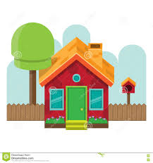 isometric front simple house stock vector image 74624159