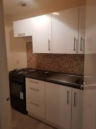 white gloss kitchen doors wickes wickes orlando white gloss slab narrow wall unit 600mm