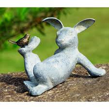 amazon com spi home 33674 playful rabbit garden sculpture