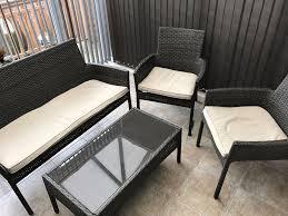 Homebase Garden Homebase Mali Rattan Conservatory Garden Furniture Set In