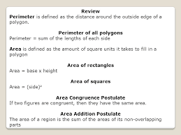 area of rectangles unit 11 section 1 understand what is meant by