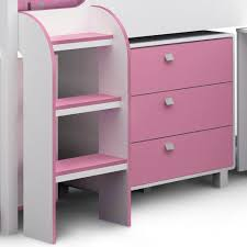 Kids Beds With Storage Kids Cabin Bed With Storage In White U0026 Pink Kids Beds Cuckooland