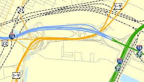 newark map newark airport interchange