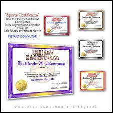 5 in 1 sports award certificate achievement photoshop