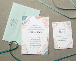marble watercolor wedding invitations pastel fine day press
