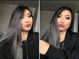 black grey hair blonde hair to black n grey ombre grwm youtube