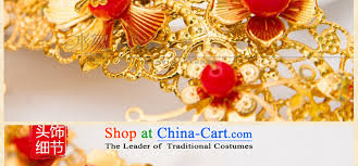 water bridal gold gold leaf flowers hair accessories for