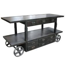 Industrial Cart Coffee Table Industrial Trolley Bar Cart American Industrial Cart Coffee Table