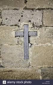 wooden christian cross on wall stock photos u0026 wooden christian
