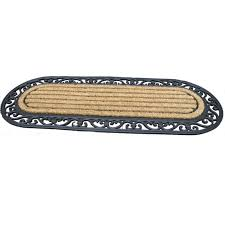 Coir And Rubber Doormat Extra Large Wrought Iron Effect Coir U0026 Rubber Doormat From Make An