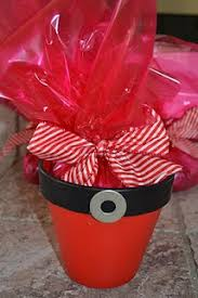 this would be cute to use small pots for office coworker gifts