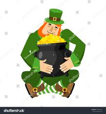 leprechaun pot gold my precious stpatricks stock illustration