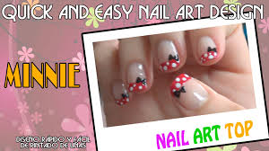 nail art ideas for kids disney minnie inspired design how to