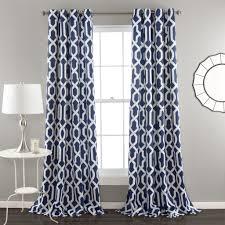 Navy Curtain Edward Window Curtain Set Lush Decor Www Lushdecor