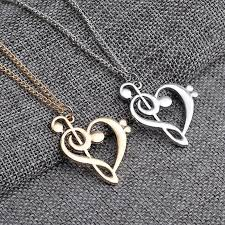 heart shaped necklace images Heart shaped treble bass clef heart music necklace kaboodleworld jpg