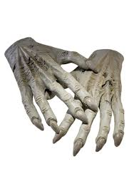 Halloween Monster Hands Costume Gloves Kids Black And White Gloves