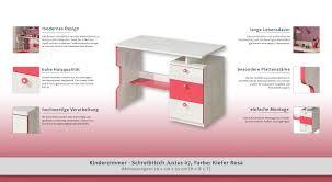 Schreibtisch 55 Cm Tief Kinderzimmer Schreibtisch Justus 07 Farbe Kiefer Rosa