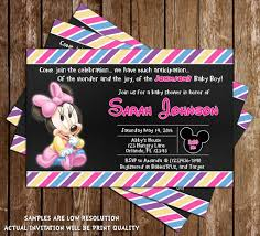 minnie mouse baby shower invitations novel concept designs baby minnie mouse baby girl baby shower