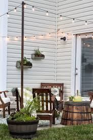 how to decorate a small patio small patio outdoor string