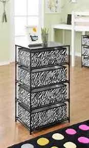 Zebra Side Table Black White End Table Zebra Side Storage Unit Dresser Nightstand