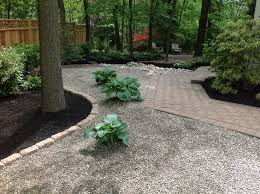 Shady Backyard Ideas Pea Gravel And Perennials For Our Shady Backyard K U0026 K