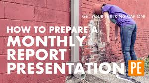 monthly report template ppt how to prepare a monthly report presentation