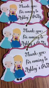 frozen invitations banner and gift tags jingvitations