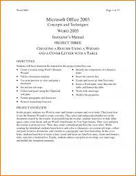 Microsoft Office 2003 Resume Templates Cv Template Microsoft Word 2003