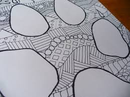 zentangle wolf track coloring supply paper patterns
