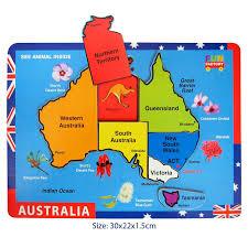 states australia map australia map raised puzzle woodland toys