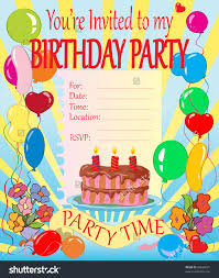 sample invitation card for birthday party chatterzoom