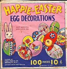Vintage Easter Egg Decorations by Vintage Easter Egg Decorations Package Downloadable Image Art