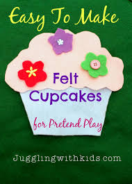 easy to make felt cupcakes for pretend play u201cif you give a cat a